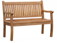 4ft teak garden bench from Just Teak