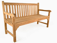 Sandringham teak garden bench on sale at Just Teak
