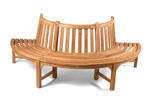 Half tree seat teak garden bench photo